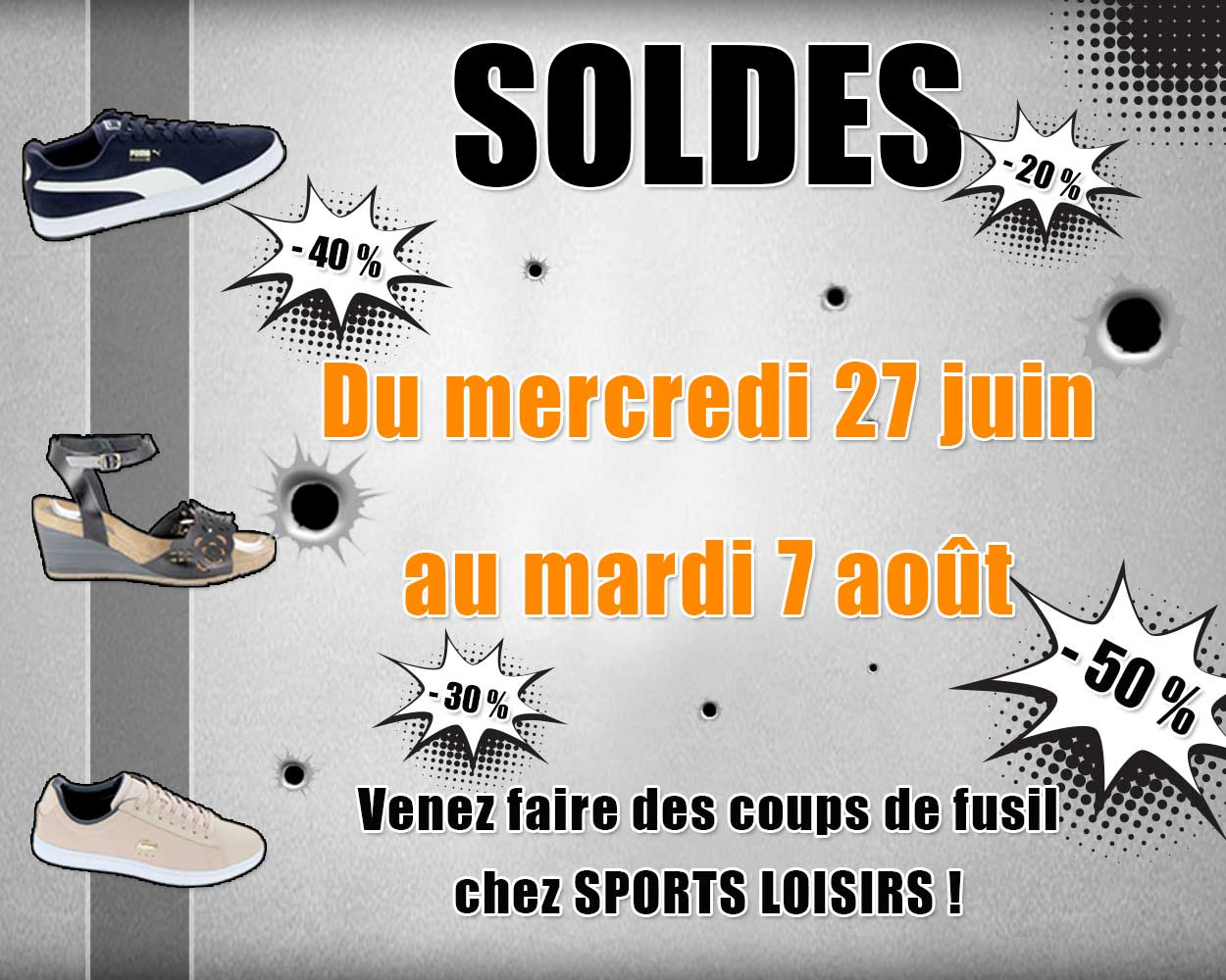 les soldes d t 2018 chez sports loisirs sports loisirs. Black Bedroom Furniture Sets. Home Design Ideas