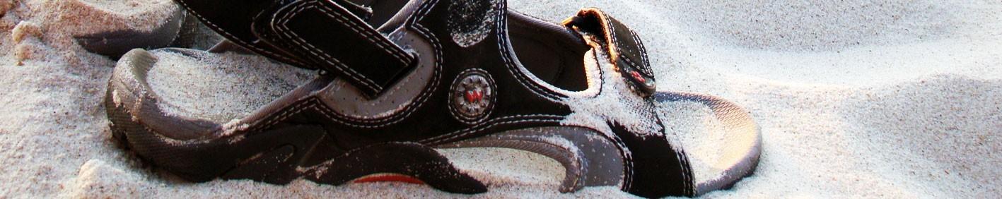 Nu pieds, chaussures sandale pour homme