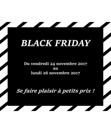Black Friday : du 23 au 26 Novembre 2018